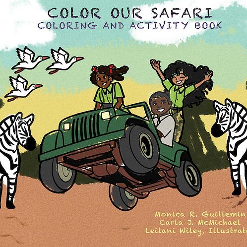 Safari Coloring and Activity Book