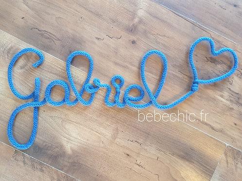 Prénom en trictotin Bleu Roi de 3 à 10 lettres