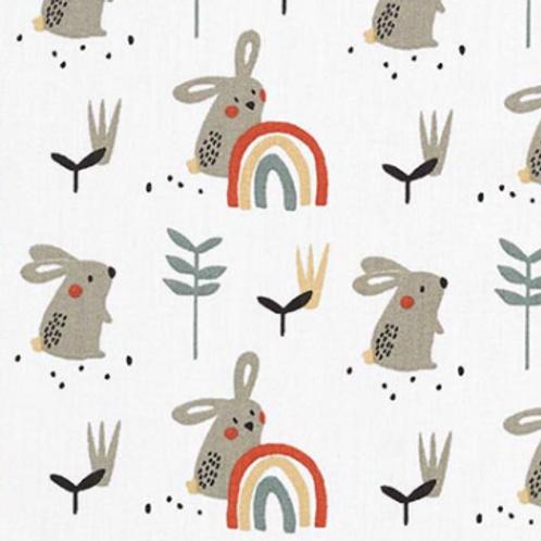 Gigoteuse lapin arc-en-ciel