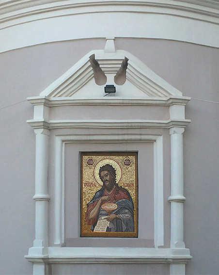Фасадная мозаика.