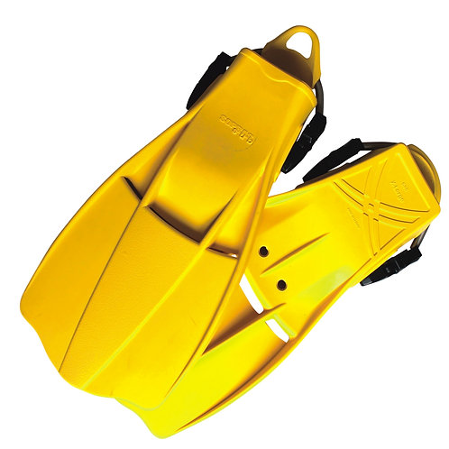 Yellow Rubber fin with spring strap