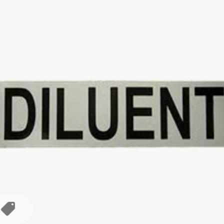 Diluent sticker