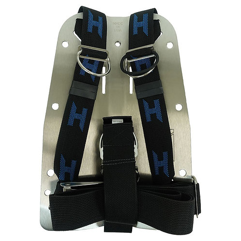 Halcyon Backplate 3mm SS with harness and storage pack