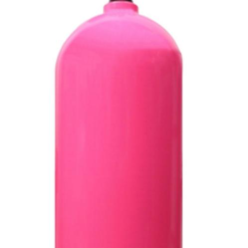 Alu 11L stage tank, pink no valve
