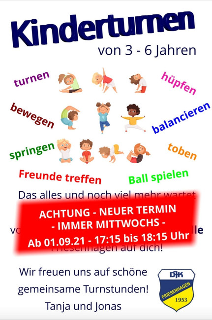 Kindertanzen ab Freitag, den 03. September