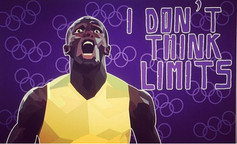 Usain Bolt Editorial illustration