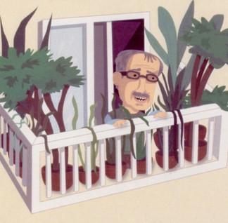 Mr. Hoppy on his Balcony (Esio Trot)