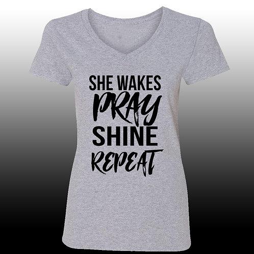 She Wakes Pray Shine