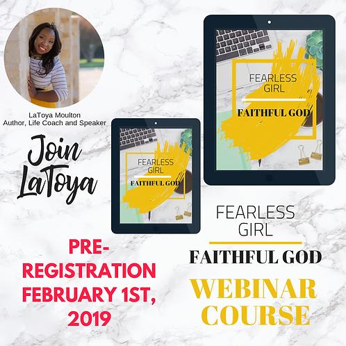 Fearless Girl Faithful God Webinar Course + Workbook