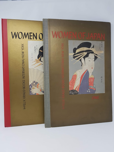 Women of Japan: Nine Original Color Woodcuts Handprinted in Japan - Volumes One and Two - Earliers Masters and Later Masters, introduction by Alfred Werner