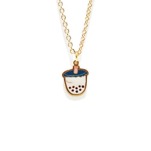 Sweet Addicted - Boba Milk Tea Necklace