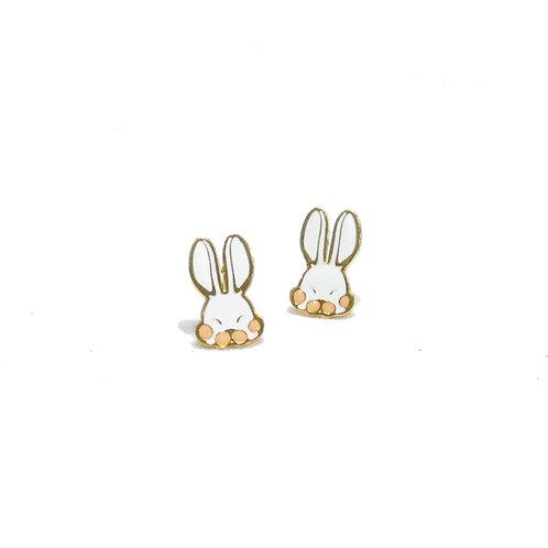 Farm rabbit Clip Earring (ต่างหูคลิปกระต่ายหุยาว)