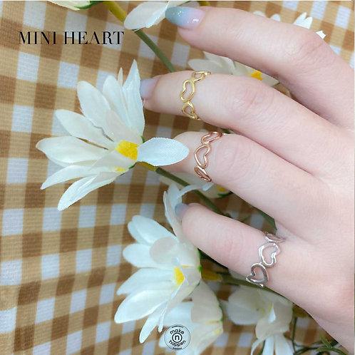 Mini Heart ring sterling silver925 (แหวนงานเงิน)