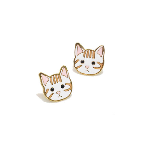 Gubjung & Friends Tabby Cat earring (ต่างหูแมว)