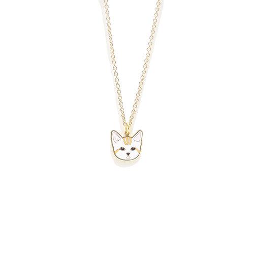 Gubjung & Friends - Stripe Cat Necklace (สร้อยคอ แมวลาย)
