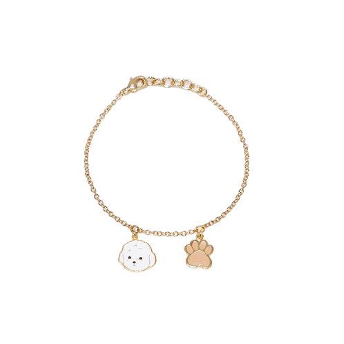 Gubjung & Friends - Poodle & Paw Bracelet (ข้อมือพุดเดิ้ล+เท้าหมา)