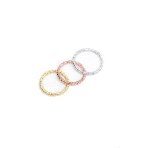 Twist ring (Sterling silver 925) (แหวนเกลียว เงิน 925)