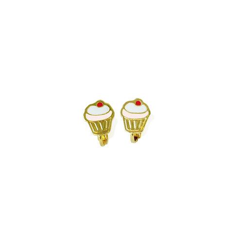 Cupcake Clip Earring