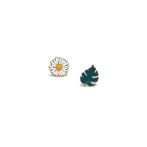 Daisy & Leaf Earring (ต่างหูเดซี่-ใบไม้)