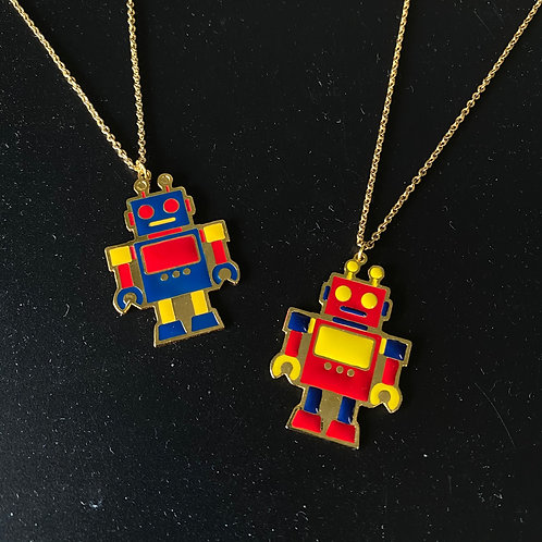 Robot Long Necklace