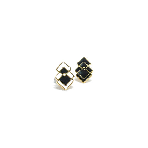 Tri square Earring