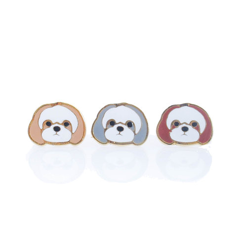 Gubjung & Friends - Shihtzu earring (ต่างหูชิสุ)