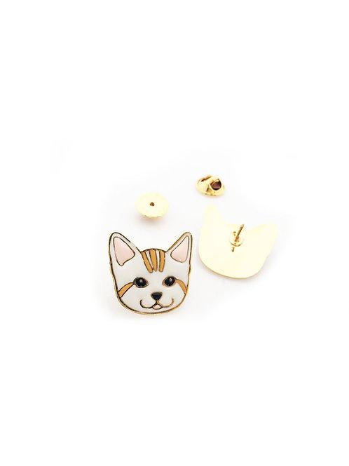 Gubjung & Friends - Stripe Cat Brooch (เข็มกลัดแมวลาย)