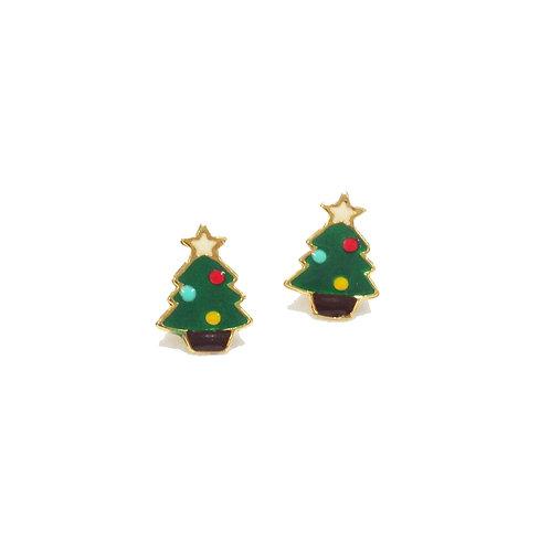 X'mas Tree Earring (ต่างหูต้นคริสต์มาส)