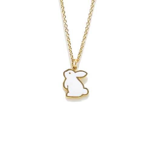 Teatime Rabbit Necklace (สร้อยคอ จี้กระต่าย)