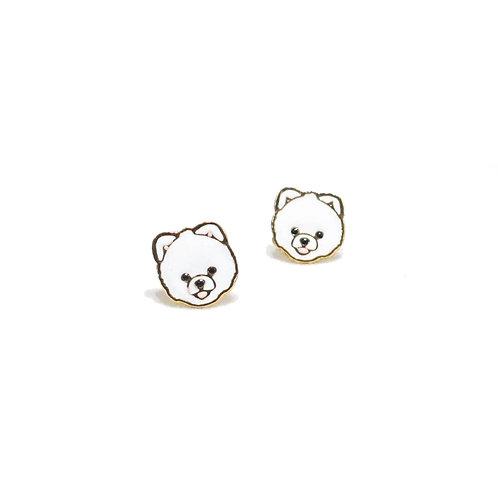 Pomeranian Clip Earring