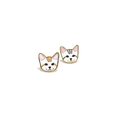 Gubjung & Friends - Stripe Cat earring (ต่างหูแมวลาย)