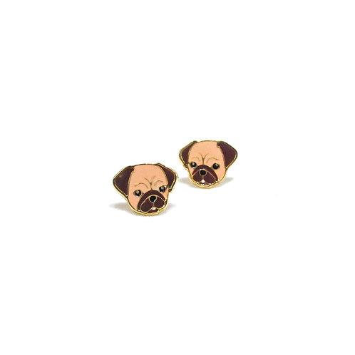 Pug Clip Earring