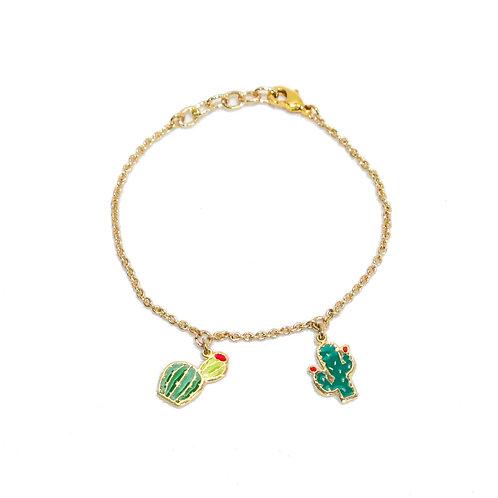 Cuctus Bracelet (ข้อมือ 2 จี้ กระบองเพชร)