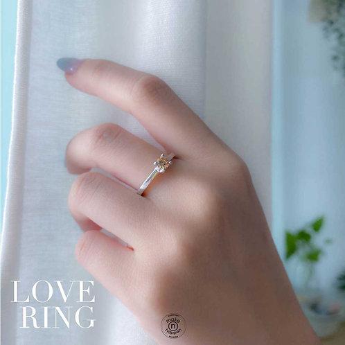 Sterling Silver Love Ring (แหวนหมั้น)