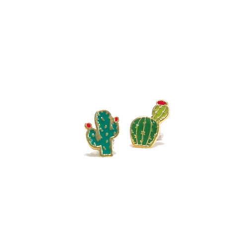 Cuctus  Cilp Earring