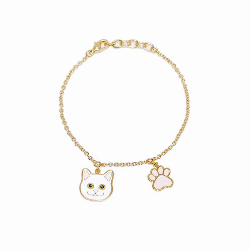 Gubjung & Friends - Persian Cat & Paw Bracelet (ข้อมือแมวเปอร์เซีย+เท้าแมว)