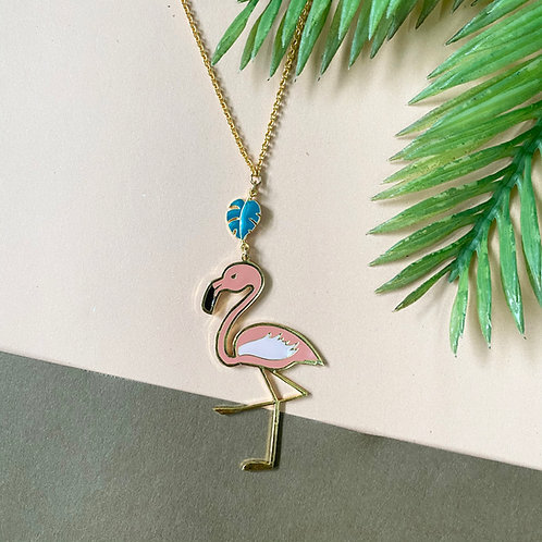 Flamingo Long Necklace (สร้อยคอยาว ฟลามิงโก้)
