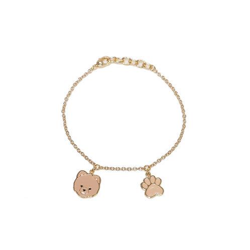 Gubjung & Friends - Pomeranian & Paw Bracelet (ข้อมือ 2 จี้ ปอม+เท้าหมา)