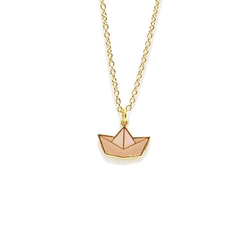 Summer Set - Paper Boat Necklace (สร้อยคอจี้เรือ)