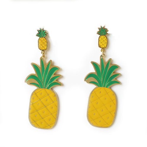 Big earring - Pineapple (ต่างหูใหญ่ สับปะรด)