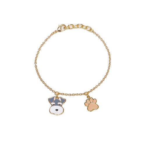 Gubjung & Friends - Schnauzer & Paw Bracelet (ข้อมือชเนาเซอร์+เท้าหมา)