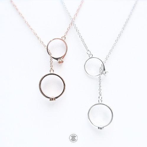 Love Ring Necklace S925 (สร้อยเงิน)
