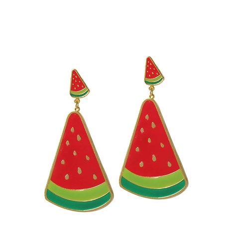 Big earring - Watermelon (ต่างหูใหญ่ แตงโม)