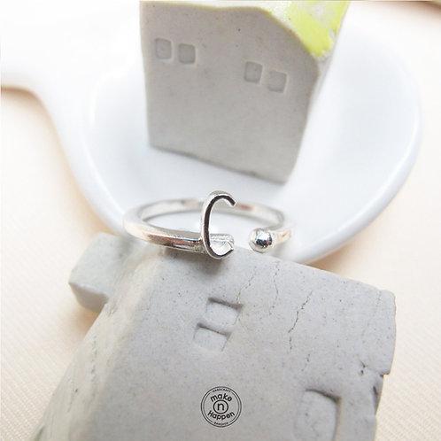 C ring (แหวนเงิน ตัวอักษร C)