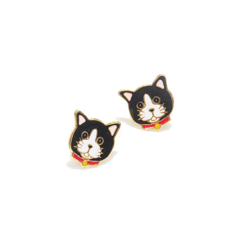 Gubjung & Friends Michael Cat earring (ต่างหูแมวหน้ากาก)