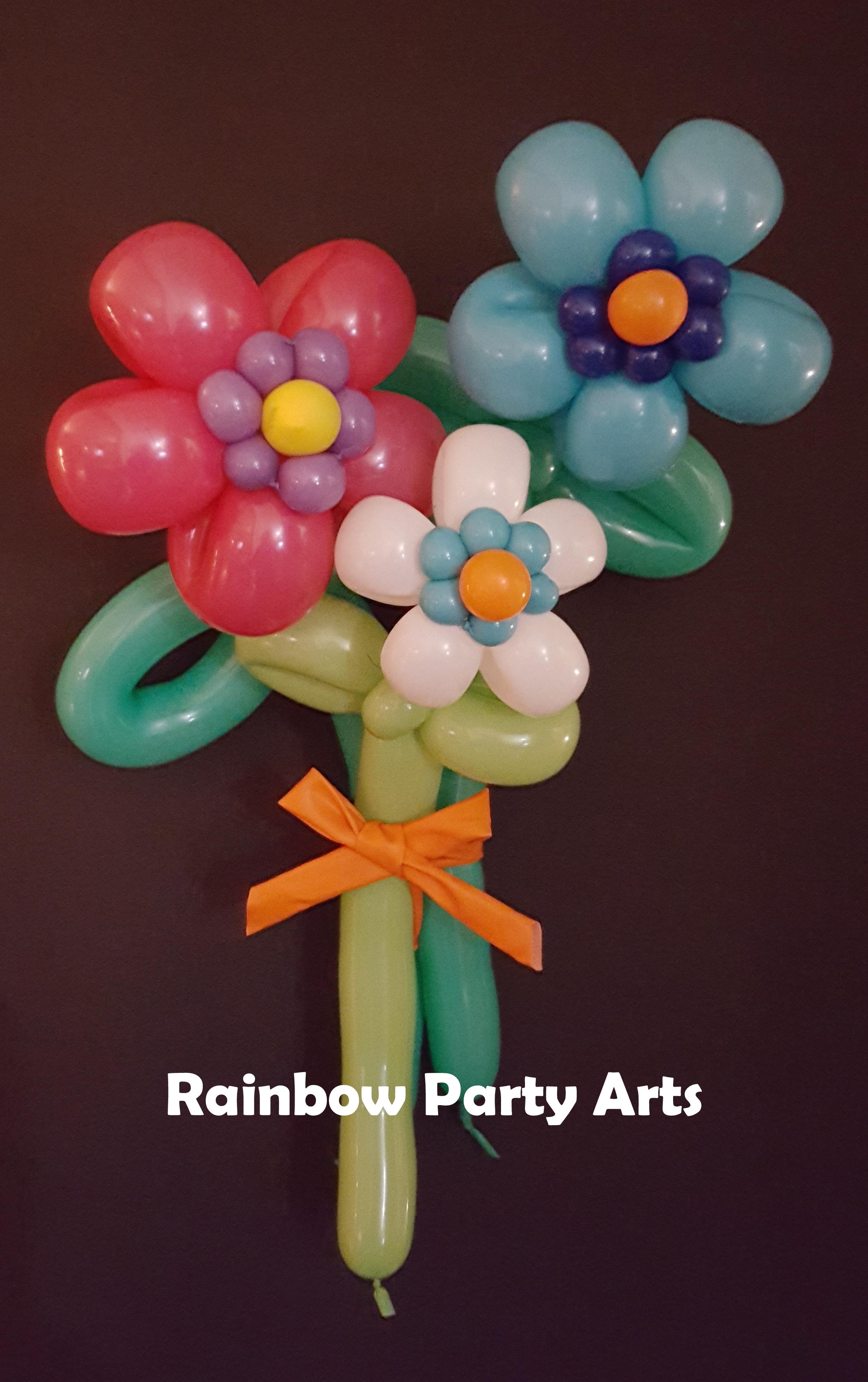 Flower boquet balloons