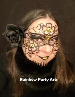 Black Henna Lace Mask