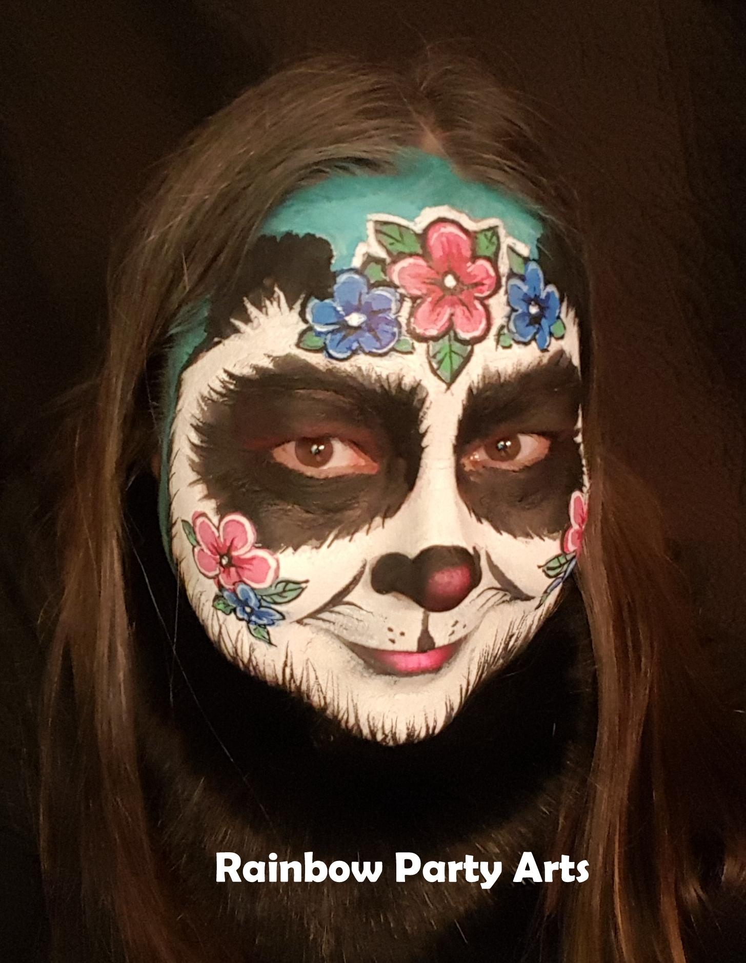 Flower Panda Mask