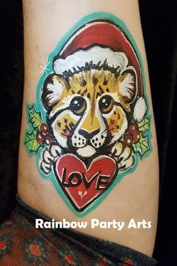 Christmas Cheetah