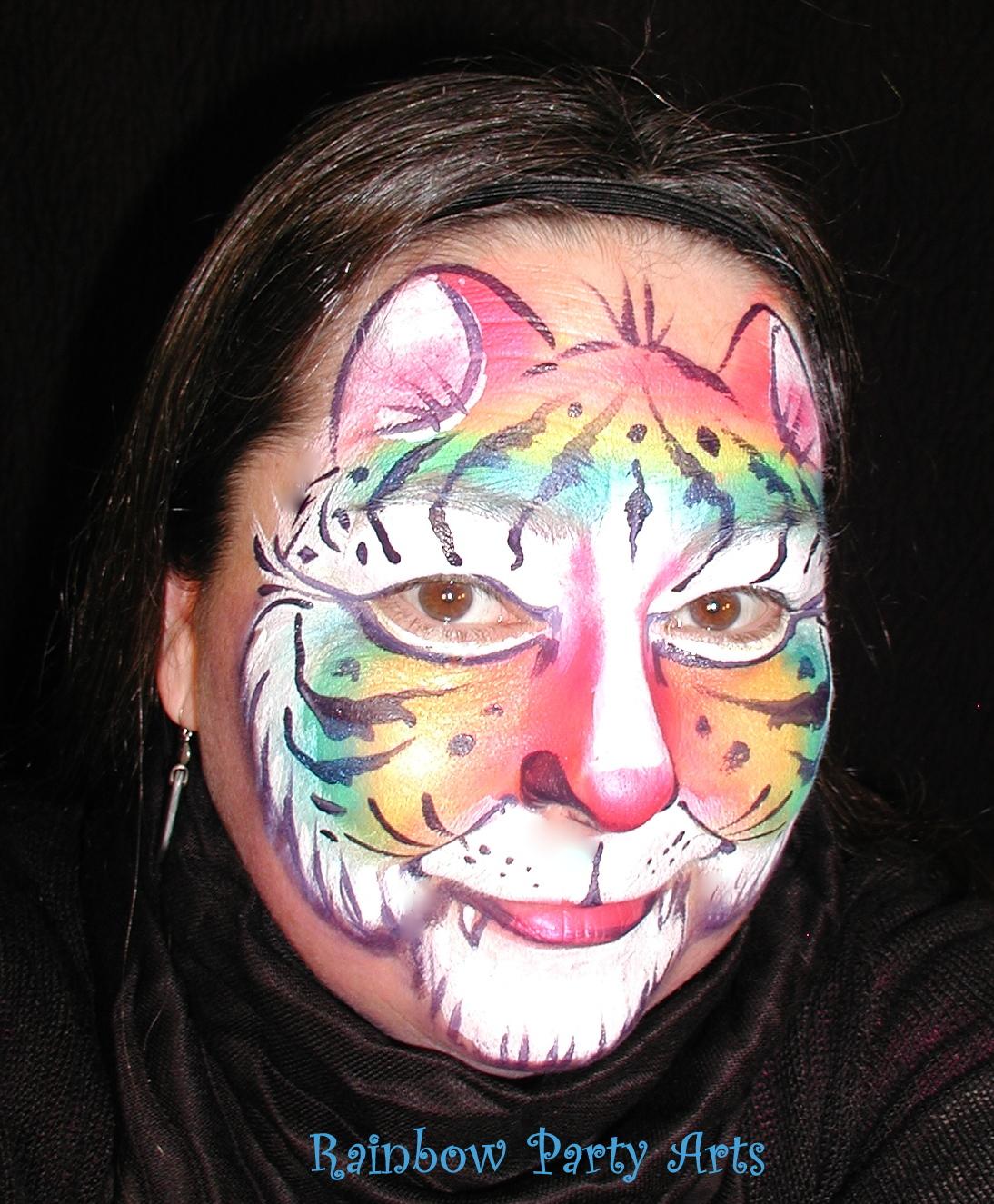 Rainbow Tiger Face